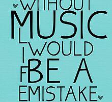 Without Music Frederich Nietzsche by geekchicprints