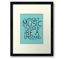 Without Music Frederich Nietzsche Framed Print