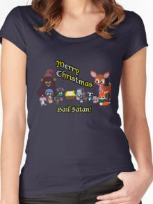 Woodland Critter Christmas Women's Fitted Scoop T-Shirt