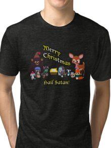 Woodland Critter Christmas Tri-blend T-Shirt