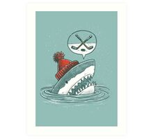 The Hockey Shark Art Print