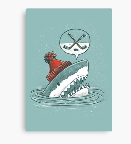 The Hockey Shark Canvas Print