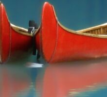 Red Canoes Sticker