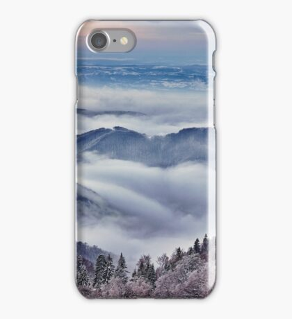 Mountain winter landscape iPhone Case/Skin