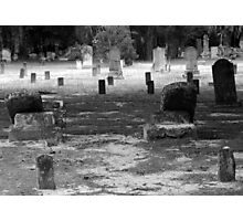 Tombstones Towards Heaven Artistic Photograph by Shannon Sears Photographic Print