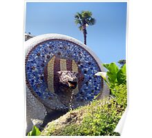 Park Guell Water Spout Poster