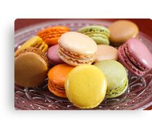 French Macaroons for Dessert Canvas Print