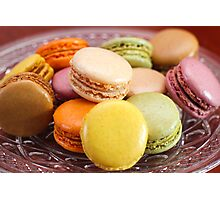 French Macaroons for Dessert Photographic Print