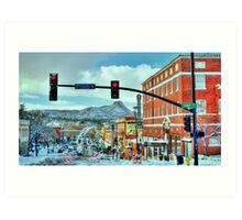After A Snowstorm In Prescott Arizona  Art Print