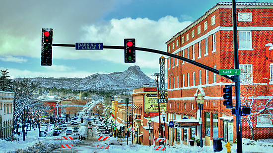 After A Snowstorm In Prescott Arizona  by Diana Graves Photography