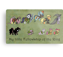 My little fellowship of the ring Metal Print