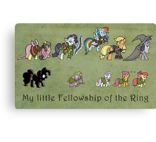 My little fellowship of the ring Canvas Print