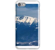 Mountain range in winter, Bucegi Mountains, Romania iPhone Case/Skin