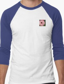 Square Framed Pink Daisy Men's Baseball ¾ T-Shirt