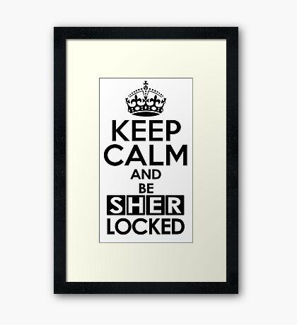 Sherlock - Keep Calm And Be SherLocked Framed Print