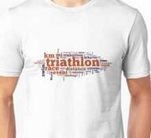 Triathlon Word Map Unisex T-Shirt