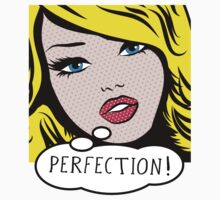 Perfection PopArt Girl. Kids Tee