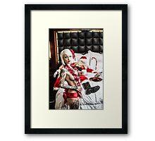 Sexy Drunk Santa  Framed Print