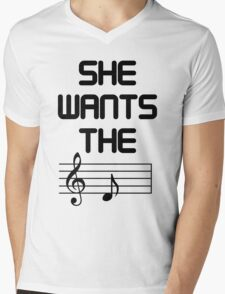She Wants The D (Key) Mens V-Neck T-Shirt