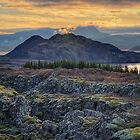 Sunset in Thingvellir by Peter Hammer