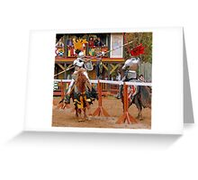 The Jousters 3 Greeting Card