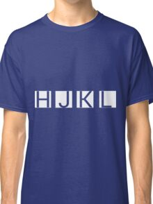 HJKL (No Arrows + Text Transparency) Classic T-Shirt