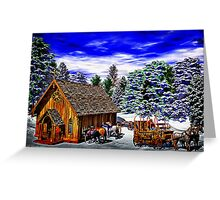 Christmas Then Greeting Card