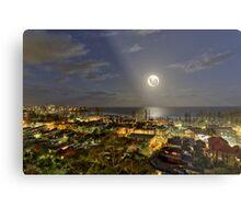Full super moon ocean rising over Manly NSW Australia Metal Print