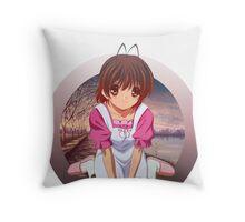 Neko Anime Throw Pillow