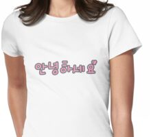 Annyeonghaseyo 2 Womens Fitted T-Shirt