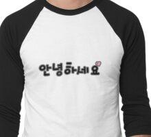 Annyeonghaseyo 3 Men's Baseball ¾ T-Shirt