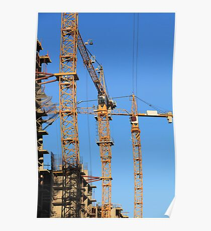tower cranes Poster