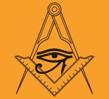 Illuminati Eye Masonic Compass Symbol by FreshThreadShop