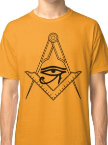 Illuminati Eye Masonic Compass Symbol Classic T-Shirt