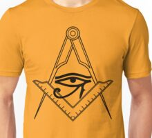 Illuminati Eye Masonic Compass Symbol Unisex T-Shirt