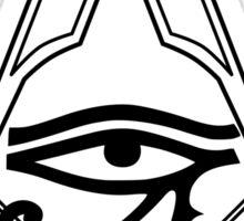 Illuminati Eye Masonic Compass Symbol Sticker
