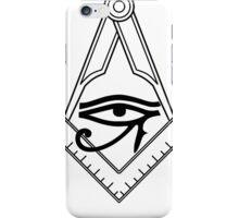 Illuminati Eye Masonic Compass Symbol iPhone Case/Skin