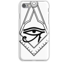 Illuminati Eye Masonic Compass Symbol iPhone Case/Skin