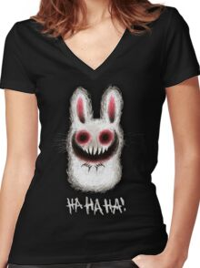 TheBunnyFromHell Women's Fitted V-Neck T-Shirt