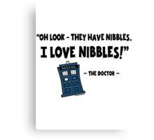 Nibbles.  I Love Nibbles. Canvas Print