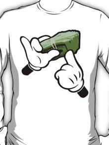 Make It Rain Cartoon Hands (Ghetto Fat Stack) T-Shirt