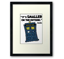 Smaller on the Outside Framed Print