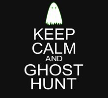 Keep Calm and Ghost Hunt (White Text) Mens V-Neck T-Shirt