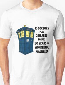50 Years, 13 Doctors Unisex T-Shirt
