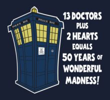 50 Years, 13 Doctors (2) One Piece - Short Sleeve