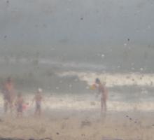 Rainy Beach Day * Sticker
