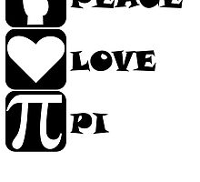 Peace Love Pi by kwg2200