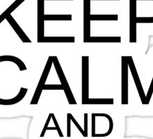 Keep Calm and Ghost Hunt (Black Text) Sticker