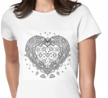 Lovely Heart Womens Fitted T-Shirt