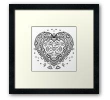 Lovely Heart Framed Print